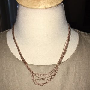LIRM Rose Hold Twelve Delicate Chain Necklace